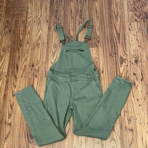 Forever 21 olive overalls size 26